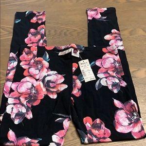 Black with floral printed leggings!